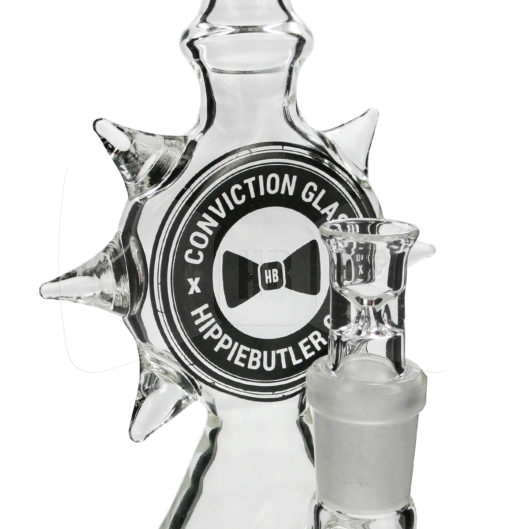 "Conviction Glass 10"" Spiked Hippie Butler Beaker Water Pipe"